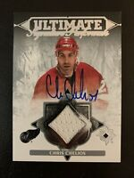 2016-17 Ultimate Collection CHRIS CHELIOS Game Used Jersey Auto /50 - Detroit