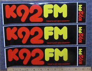 3- K92FM -TRACK STICKERS