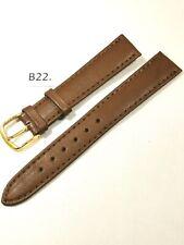 B22 - Bracelet montre en cuir brun 16 mm