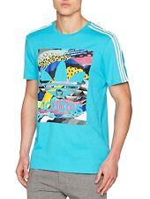 Men's New Adidas Originals Trefoil Logo T-Shirt Top - Blue