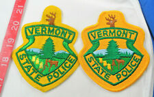 """One Very Old Felt, Vermont State Patrol 4-5/8"""" Cloth Patch Lot of 2"""