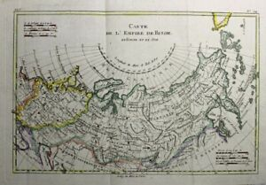 1781 Bonne Map of the Russian Empire