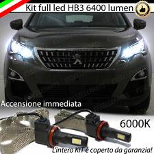 KIT FULL LED PEUGEOT 3008 LAMPADE ABBAGLIANTI LED HB3 6000K NO ERRORE
