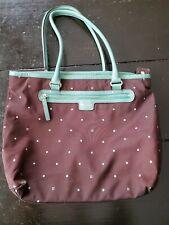 Kate Spade Large Handbag Tote Diaper Bag aqua and brown suer cute