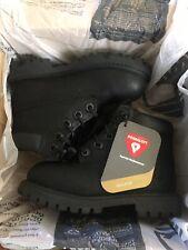 "Timberland Waterproof 6"" Premium Boots Black Nubuck Baby Toddler Size 8 (12807)"