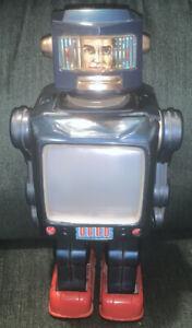 Vintage Radar Robot S.H. Space Man HORIKAWA JAPAN For Parts Or Restoration Tin