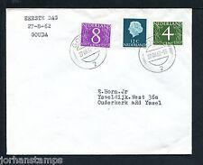FDC (Philato W0) gewone brief, nvph 774-776, fluoriserend, met adres :