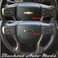 2013-2019 Chevy MALIBU Steering Wheel Decal Overlay Emblem Sticker Vinyl Bowtie
