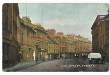 Scotland Arbroath High Street Vintage Postcard 17.9