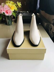 Michael Kors Lottie Flat Bootie Cream Leather Size UK 6 / US 8 RRP £225