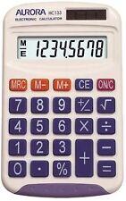 Aurora 8 DIGIT Pocket Calculator White HC133 Ao16071