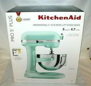 KitchenAid Pro 5 Plus KV25G0XIC 5Qt Bowl- Lift Mixer Ice Blue Brand New Sealed