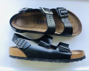 NEW W/O Box Birkenstock Mens Milano Black Slingback EUR 42 Comfort Sandals 9-9.5