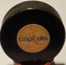 1974-77 WASHINGTON CAPITALS VINTAGE NHL CONVERSE OFFICIAL GAME PUCK ART ROSS USA