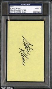 Steve Kline Signed Jumbo 3x5 Cut PSA/DNA 9 MINT Certified AUTO