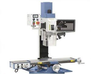 BERNARDO KF 25 Pro mit Vorschub + 2-Achs Digitalanzeige Bohr- Fräsmaschine