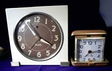 2 Westclox Clocks - Wind Up Travel Alarm Clock & WORKING Electric Alarm Clock