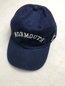 Russell Athletic Monmouth University Hawks Embroidered Hat Blue NEW