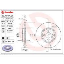 Bremsscheibe (2 Stück) COATED DISC LINE - Brembo 09.A047.31