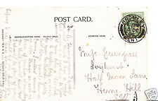 Genealogy Postcard - Family History - Greengrass - Herne Hill - London BS887