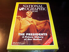 National Geographic Cd Rom Presidents Picture History Of Nation Dos Pc New