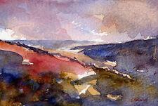 Ryedale Autumn POSTCARD Steve Greaves Watercolour Art Landscape Yorkshire Scene