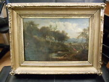 ANTIQUE SIGNED OIL  ON CANVAS FREDERICK RONDEL(American, 1826-1892) 19TH CENTURY