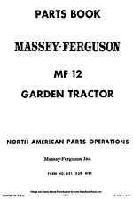 Massey Ferguson MF12 Lawn and Garden Tractor PARTS MANUAL MF-12 LGT
