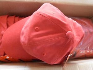 Lot TACTEL 100 Plain RED Baseball Cap Sports Low Profile Mens Women Wholesale