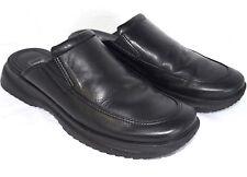 Ecco Twist Black Leather Mocs Mens SZ 5 Black Leather Slip On Clogs Casual Shoes