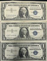 (5) Silver Certificates 1935 1957 $1 Blue One Dollar Bill Lot No Tear Circulated