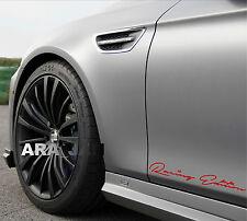 Racing Edition Decal Sticker sport speed car logo emblem skirt sticker RED