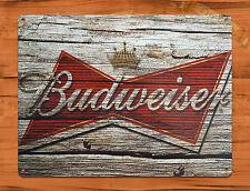 """Budweiser"" Beer Vintage Garage Rustic Wall Decor Man Cave Tin Sign"