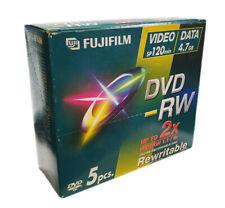Fujifilm DVD-RW Blank DVDs - 4.7GB - Upto 2x Speed - Jewel Case - 5 Pack