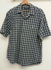 Tesco Camicia Blu Taglia M Manica Corta con motivo a Plaid check < J4767