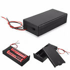 DC Holder Storage Box Case ON/OFF Switch Wire for 3.7V 2 x 18650 Battery Showy