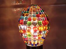 Candelabro Cuentas de Cristal Luz Vela Bombilla tapa Gotas Retro Color PANTALLA