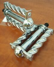 CHROME square round Twisted lowrider bike Bicycle Pedals 1/2""