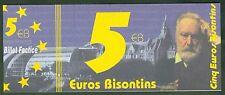 BILLET DE 5  EURO 1998  EURO  BISONTIN  Besançon    N° 5 A