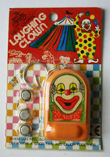 VINTAGE 70'S LAUGHING CLOWN ELECTRONIC LAUGH SOUNDS KEY CHAIN TAIWAN NEW NOS !
