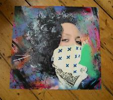 Statique TIME BANDITS Molly OG signé HPM Print + Obey Giant Sticker