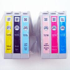 Genuine EPSON 79 Inkjet Cartridges T79 Bulk 6-Pack T0791-T0796 Sealed NEW No Box