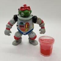 Vintage 1990 TMNT Space Cadet Raph Ninja Turtles Figure + Bonus Ooze Slime