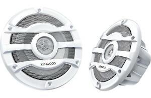"Kenwood KFC-2053MRW 8"" 2 Way 300W White Marine Boat Speakers"