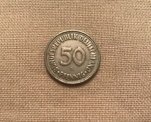 1950 *G* Germany - Federal Republic 50 Pfennig - Ex FINE condition - RARE COIN