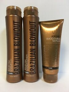 BRAZILIAN BLOWOUT ANTI FRIZZ SHAMPOO, CONDITIONER & SERUM - TRIO