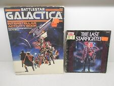 New listing 1986 Battlestar Galactica Puzzle Activity Coloring Book & The Last Starfighter