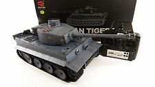 UPGRADED 2.4GHZ DUAL SOUND TIGER 1 HENG LONG RC MODEL ARMY SMOKE BB BATTLE TANK
