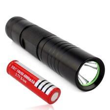 5000 Lumen CREE Q5 LED Mini Flashlight Torch Lamp Light Black 18650 Battery FT
