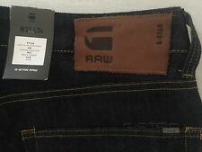 G-STAR RAW NWT men's Jeans 3301 Slim Straight Neill Denim Raw Size 32x34